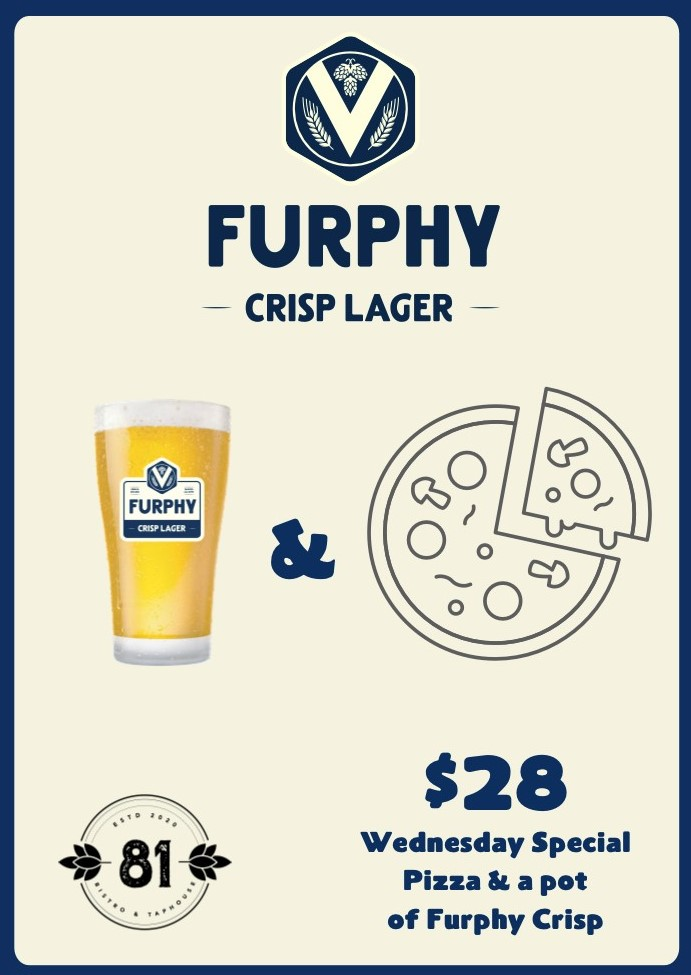 Pizza or Parma & Pot by Furphy